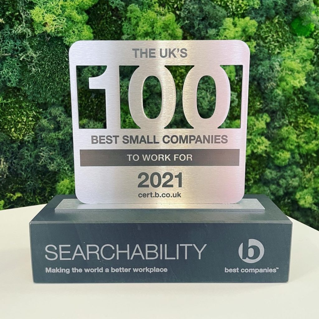 <a href='https://www.searchability.com/searchability-in-the-top-100-small-best-companies-to-work-for/'>Searchability in the Top 100 Small Best Companies to work for!</a>